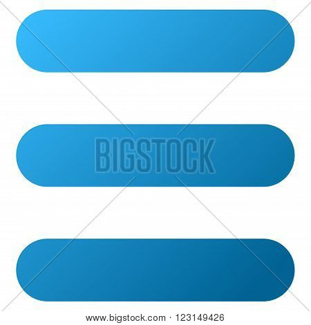 Stack vector toolbar icon for software design. Style is gradient icon symbol on a white background.