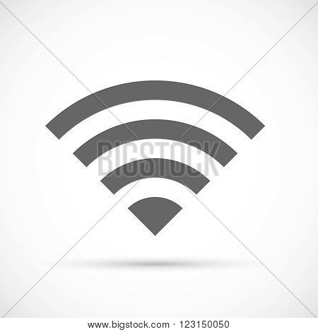 Wireless icon flat. Wireless modem signal symbol