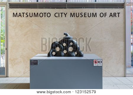 MATSUMOTO JAPAN - NOVEMBER 21 2015: Matsumoto City Museum of Art built in 2002. Museum specialized are installations and paintings by Japanese artists