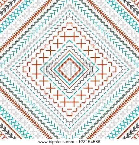 Seamless Embroidery Pattern.