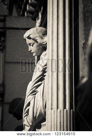 Female statue Recoleta Cemetery in Buenos Aires