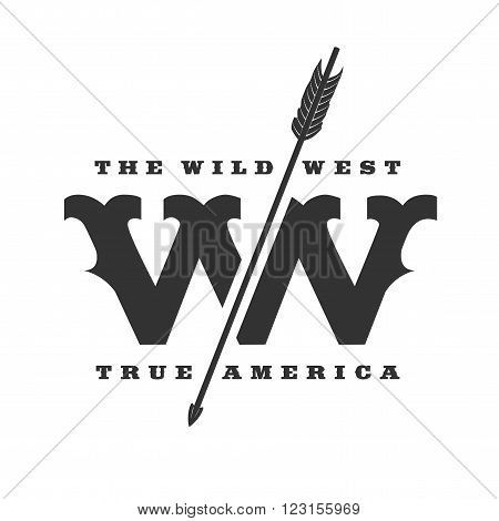 The Wild West concept vector logo template. Symbol label badge design element