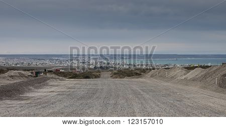 The town of Puerto Madryn Argentina. Whale watching area of Patagonia.