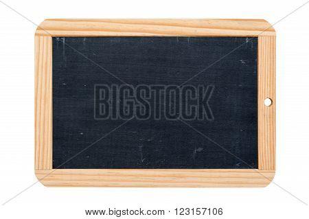 rectangular school slate isolated on white background