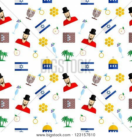 the background in the style of a flat design on the theme of israel.