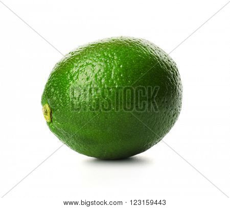 Lime, isolated on white