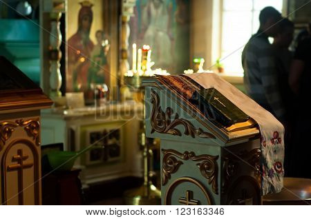 Inside the russian orthodoxy christianity church icons