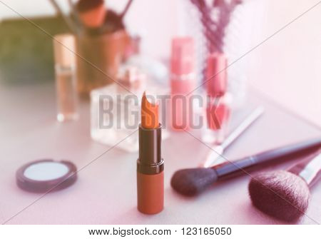Cosmetics on light background