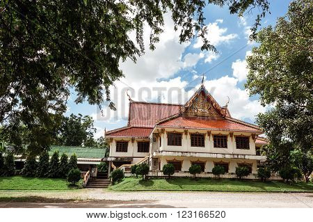 beautiful view of a house in Thai style
