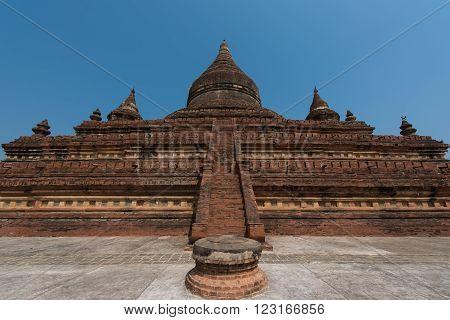 Mingala zedi Pagoda temple in Bagan Myanmar
