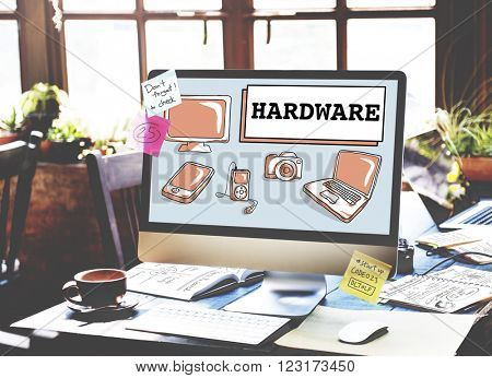 Hardware Software Electronics Technology Concept