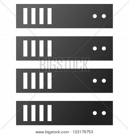 Server Rack vector toolbar icon for software design. Style is gradient icon symbol on a white background.