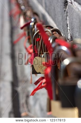 Love locks.