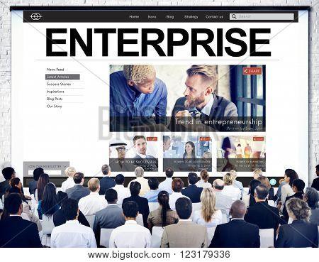 Enterprise Establishment Operation Franchise Firm Concept