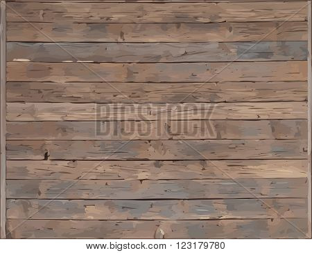 Wood plank texture background vector with traverse