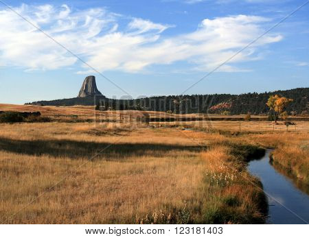 Devils Tower National Monument in Wyoming USA