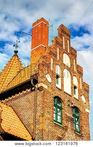 Nautical builing in the harbour of Stralsund, Germany