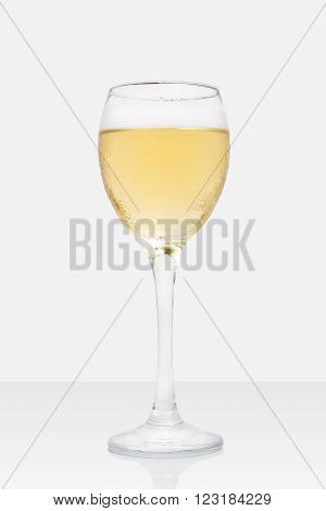 Wine Glass On White Background