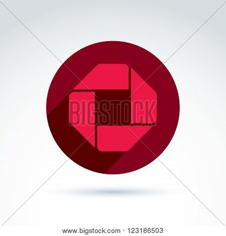 Bright Composite Corporate Element Created From Separate Geometric Parts. Vector Abstract Emblem Pla