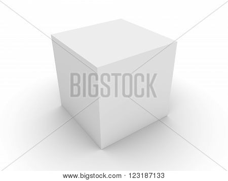 3d concept white box with the shadow