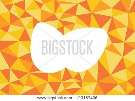 Low poly style vector orange low poly design low poly style illustration Abstract low poly background vector orange white cut out