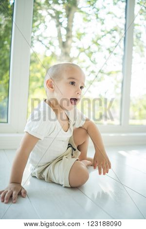 Little kid at home