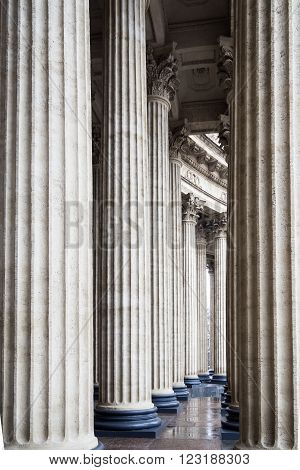 Klassicheskiy the views between the colonnade of the Kazan Cathedral in Central St. Petersburg on Nevsky prospect