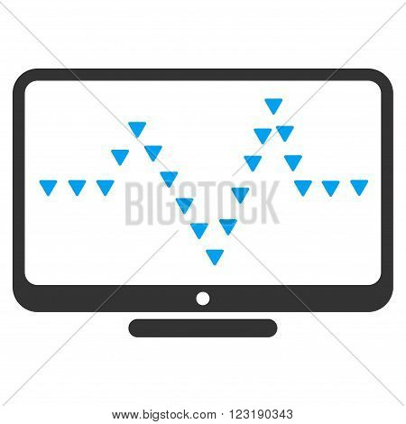 Monitor Dotted Pulse vector icon. Monitor Dotted Pulse icon symbol.  .