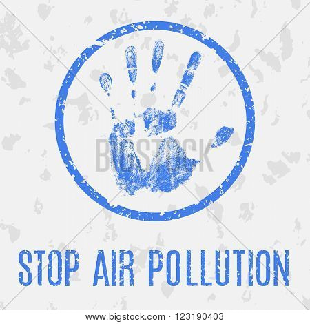 Conceptual vector illustration. Global problems of humanity. Stop air pollution