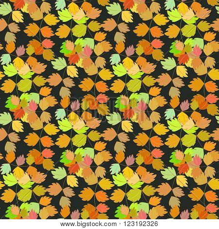 Seamless vector pattern, autumn design. Cushion, pillow, bandanna, silk kerchief or shawl fabric print. Texture for clothes and bedclothes