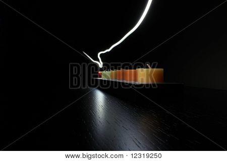 Kerzen und Licht