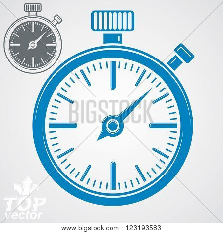 Vector Classic Stopwatch, Additional Version Included. Eps 8 Highly Detailed Vector Illustration. Po