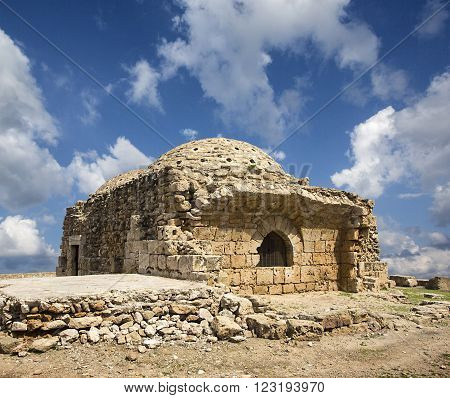 PAPHOS CYPRUS - March 20. 2015. Ruins of bath nedieval - ottoman period in Paphos Cyprus