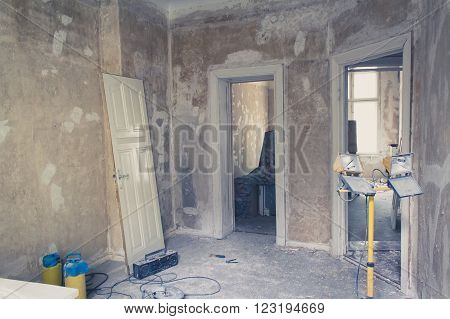 unrenovated flat room before renovations - old flat
