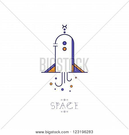 Linear icons space ship. Space icons modern line style vector. Cosmos icons isolated black background. Space series. Space exploration and adventure symbol.