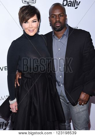LOS ANGELES - MAR 20:  Kris Jenner & Corey Gamble arrives to the 2nd Annual Fashion Los Angeles Awards  on March 20, 2016 in Hollywood, CA.