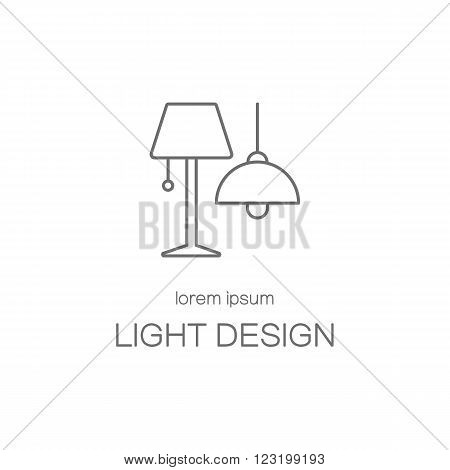 Light desigh house line icon logotype design templates. Modern easy to edit logo template. Vector logo design series.