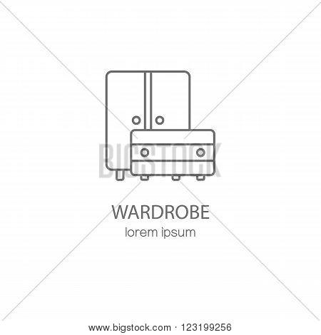Wardrobe wood furniture logotype design templates. Modern easy to edit logo template. Vector logo design series.