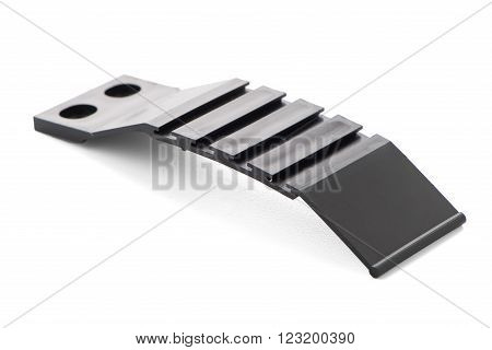 Plastic profile accessory isolated on white background.