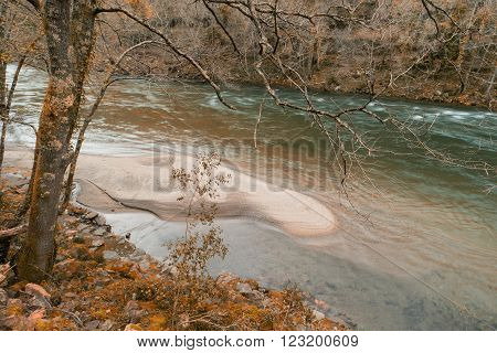 Autmun Scene At Paiva River