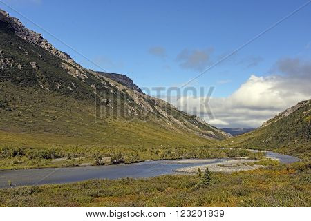 Savage River in Denali National Park in Alaska