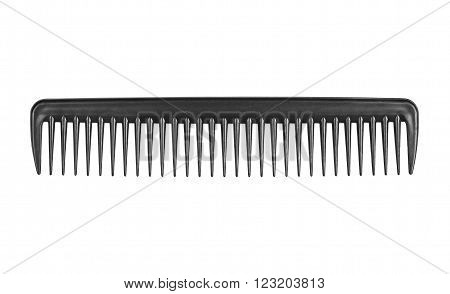 Black comb isolated on a white background