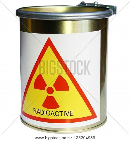 barrel with radiation nuclear radiation waste radioactive
