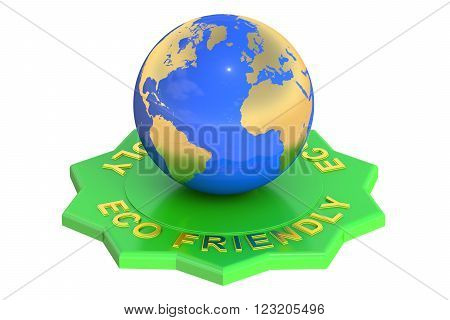 Eco Friendly 3D rendering isolated on white background