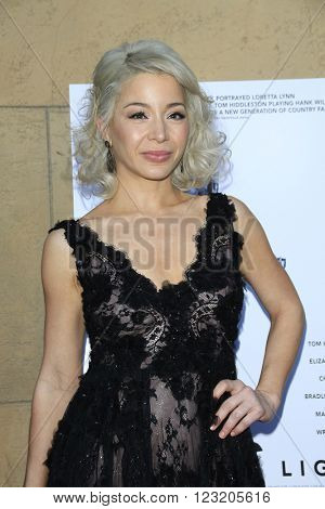 LOS ANGELES - MAR 22: Katherine Castro at the Premiere of 'I Saw The Light' at the Egyptian Theatre on March 22, 2016 in Los Angeles, California