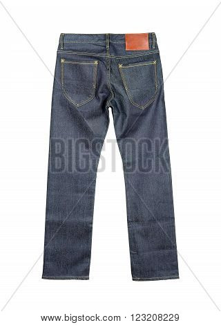 jeans Isolated on the white background .