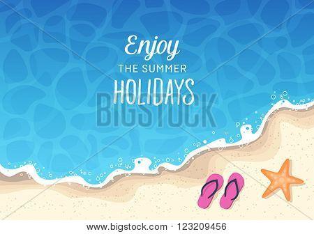 Summer holidays background - sun, sea, travel, relaxation, fun.