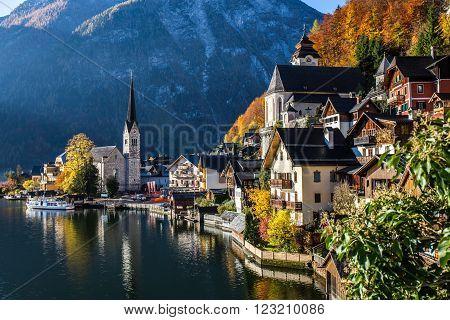Historic Village in Autumn - Hallstatt, Austria