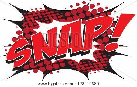 SNAP! wording sound effect set design for comic background, comic strip