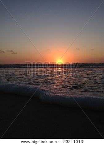 ground view of sunrise in jacksonville beach florida